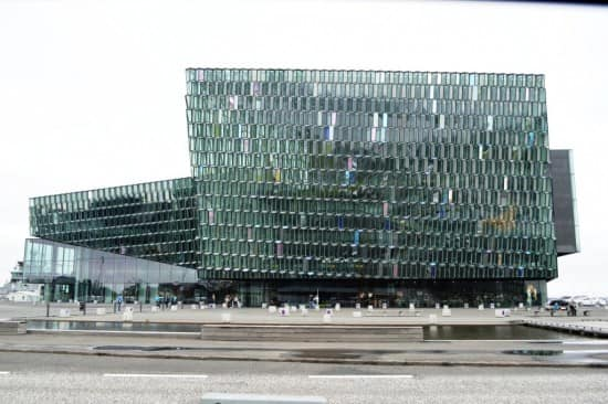 The Harpa exterior.