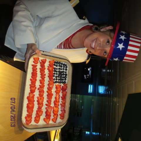 Rotterdam's Pastry Team created a special treat for the 4th of July Officer Pub Quiz. - Jules Seidel, HRM