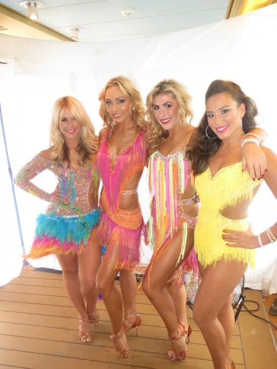 From left: pro Dancer Chelsie Hightower, Ivetta, Emma and a troupe member.
