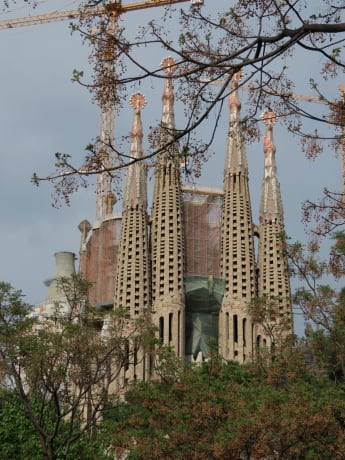 La Sagrada Famillia in Barcelona from Sandy Mitchell.