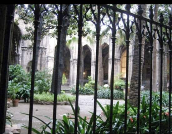 The courtyard inside of the Barcelona Cathedral from Jennifer Rogers Morgan.