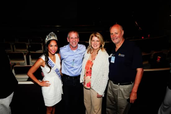 From the Seafair luncheon at the Port of Seattle. Pictured from left: Veronica Asence, Miss Seafair; Chip Hanaeuer; Beth Knox, Seafair President and CEO, and John Buller, Chairman, Seafair Board of Directors.