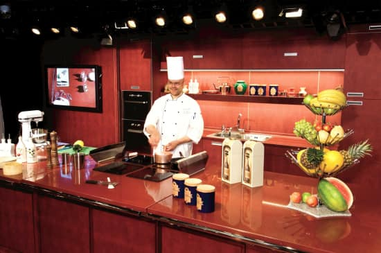 The Culinary Arts Center where chefs demonstrate how to make regional dishes.