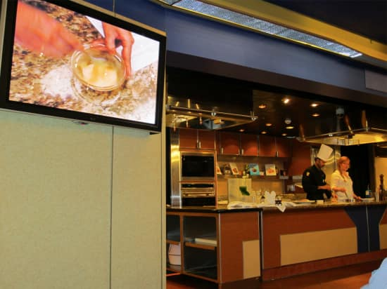 During his cruise, Chef Kraal will give cooking demonstrations in the Culinary Arts Center.