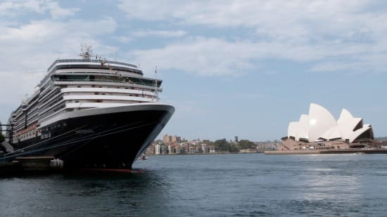 Oosterdam at Sydney, Australia. Courtesy of Mariner Eddie Bernard.