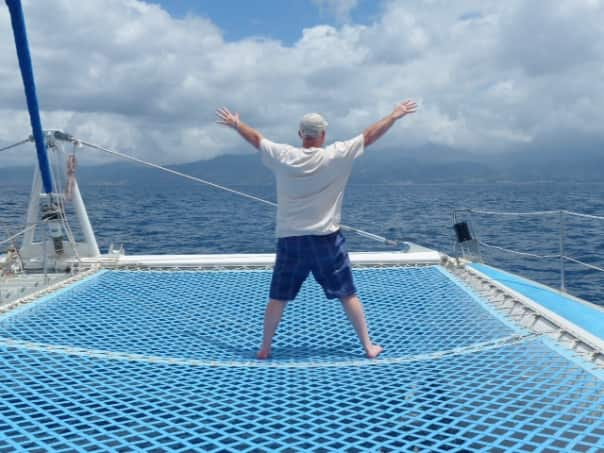 Whale watching in Dominica from JR Drayton.