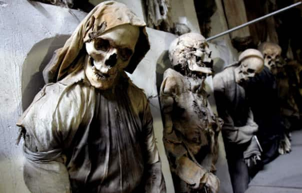 Catacombs of the Capuchin Friars at Palermo, Sicily. Picture: Reuters/Tony Gentile