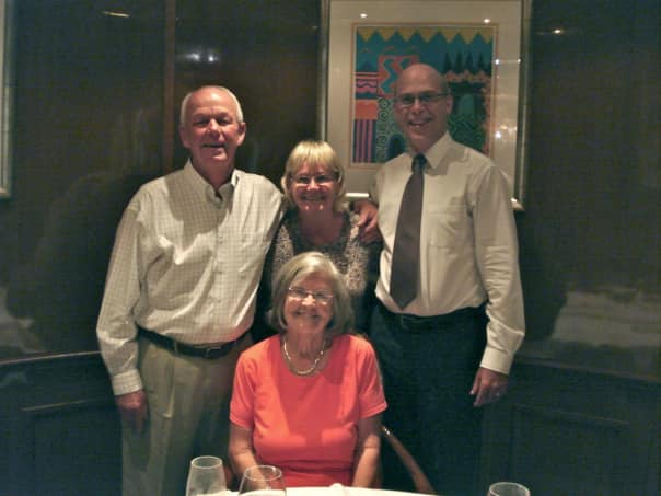 Edna and J. Richard Airey, with Joanne and Gary Graf in the Pinnacle Grill for our final evening together.