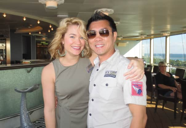 Guest Austin Tran and his shipboard pro dance partner.