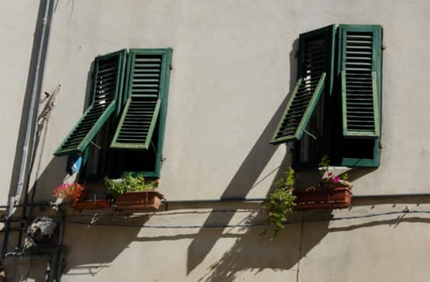 Windows in Lucca.