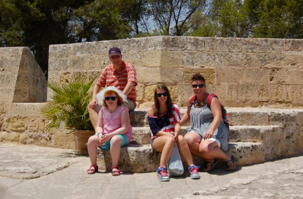 Family picture at Castell de Bellver at Palma.