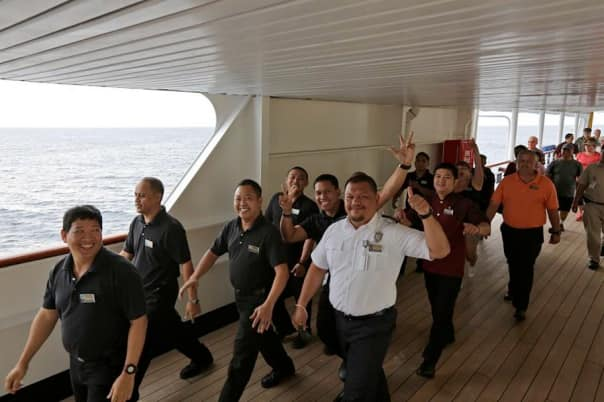Statendam's All Hands on Deck walk.