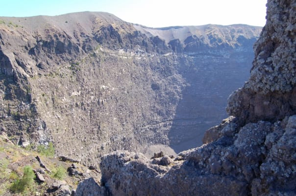 Crater of Mount Vesuvius.