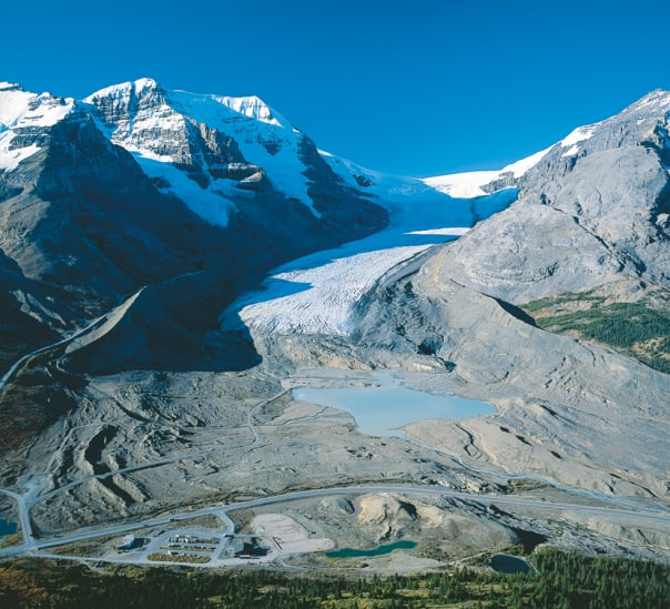Athabasca Glacier on the Columbia Icefield. Photo courtesy of Brewster Travel Canada.