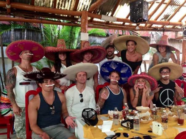 "The ""Dancing with the Stars: at Sea"" crew enjoy a fiesta in Cozumel, via Anya Fuchs (@myanyatv)."