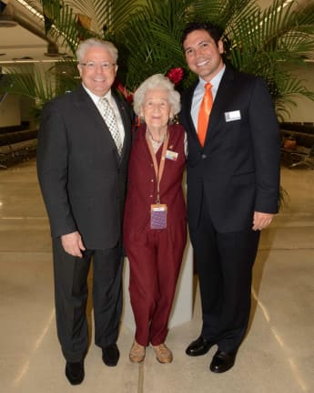 Guest Dolly Smith with Cruise Director Gene Young  and Director Mariner Society Gerald Bernhoft.