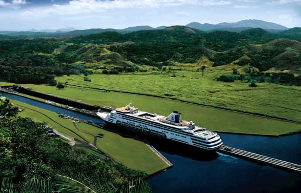 Maasdam transits the Panama Canal.
