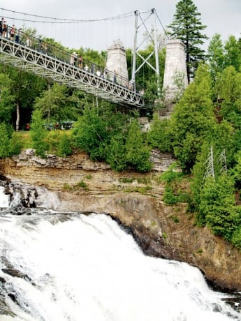 Montmorency Falls. Photo by crew member Jay Antes.
