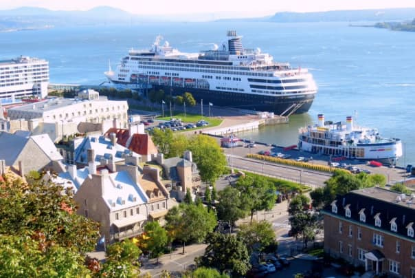 A view of Maasdam from the top of the funicular.