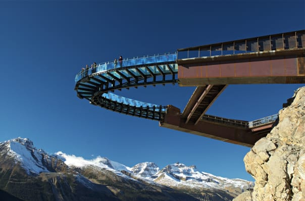 The newly opened Skywalk provides a once-of-a-kind view. Photo courtesy of Brewster Travel Canada.