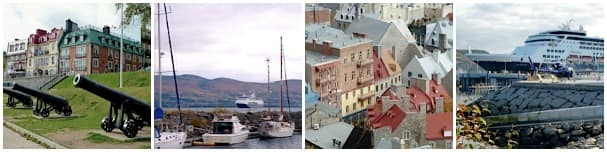 From left: Quebec City, Gaspe, Quebec City and Saguenay by 3-Star Mariner Jim Wallace.