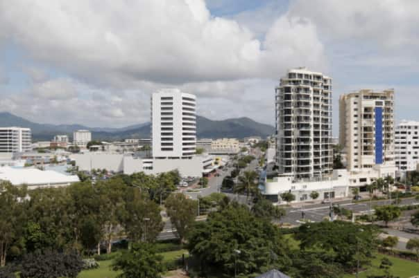 A view of Cairns from the bridge.