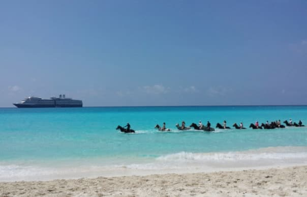 Paradise found! @HALcruises private island, Half Moon Cay. Riding horses in the water. #SeaHAL — @CruiseGuy