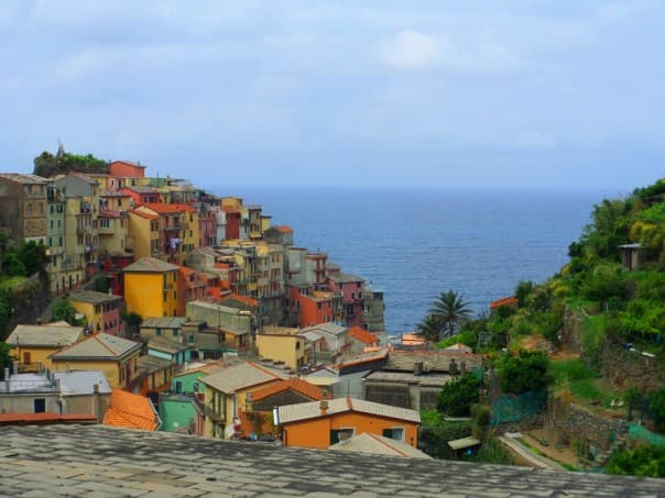 A colorful view of Cinque Terre, Italy. Photo by guest Nancy L.