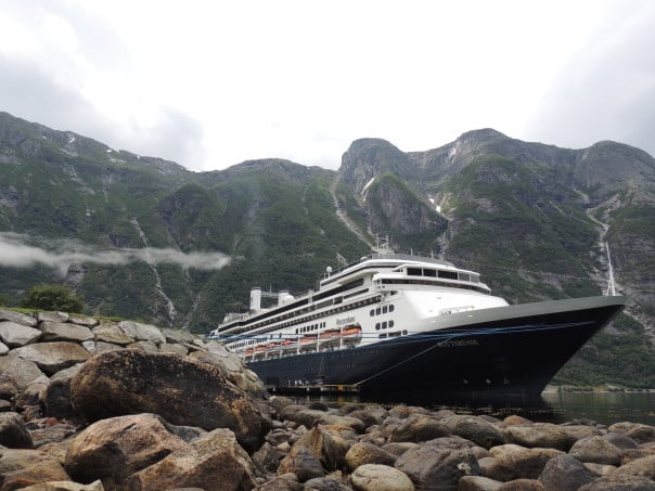 ms Rotterdam at Eidfjord, Norway. Photo courtesy of Pinar O.