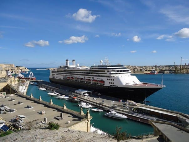 ms Rotterdam at Malta, Italy. Photo courtesy of guest Reinier S.