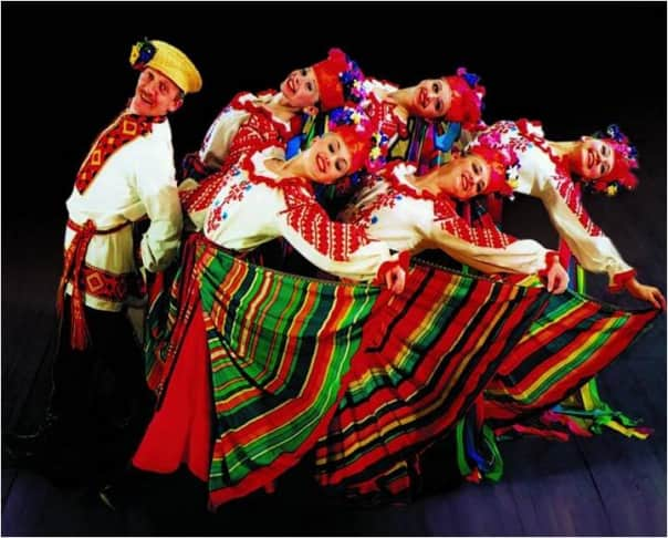 The mesmerizing Russian folkloric dancers.
