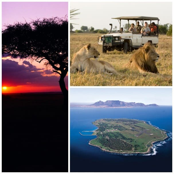 On overnight calls in South Africa guests don't have to choose between a local safari and trip to Robben Island.