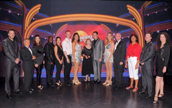 A group of 'Dancing with the Stars: At Sea' guest winners aboard Maasdam.