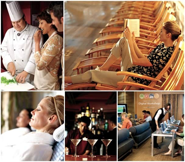 From a spa treatment to a martini tasting, there's a lot to do onboard.