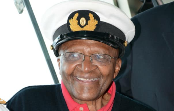 Archbishop Tutu's playful personality shone through during his four-day cruise.