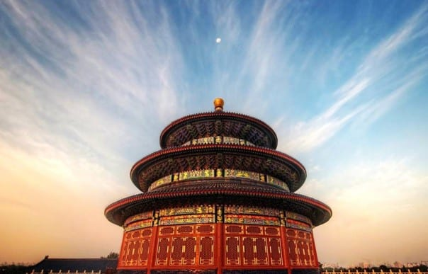 The Temple of Heaven is visited on the Splendid China Overland Adventure.