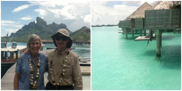 Gerogina and Humberto spent the day at the Four Seasons in Bora Bora at the island's lagoon.