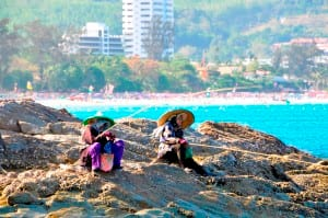 Locals fishing at colorful Phuket, Thailand. Photo by Joanne Gardner.