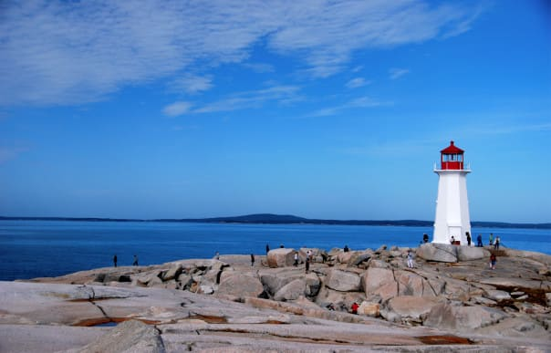 The lighthouse at Peggy's Cove in Nova Scotia is one of the most popular sites to photograph, captured by guests Doug and Cindy Kizer.