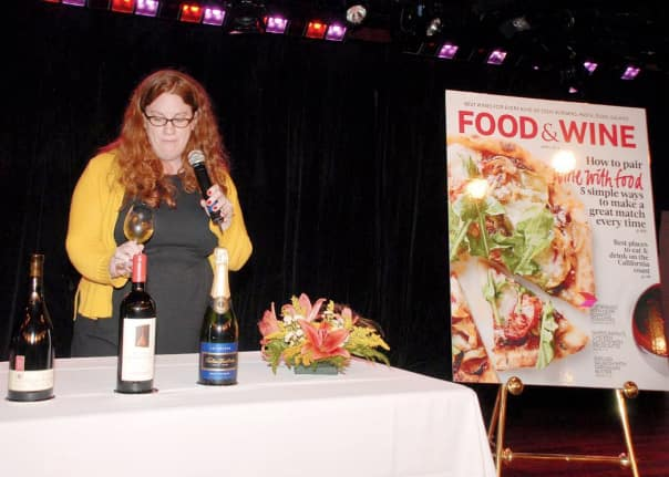 """Food and Wine"" magazine Senior Wine Editor Megan Krigbaum shared her expertise with guests during a tasting on Noordam."