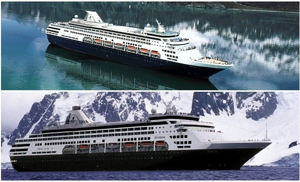 Statendam, top, and Ryndam will be transferred to P&O Cruises.