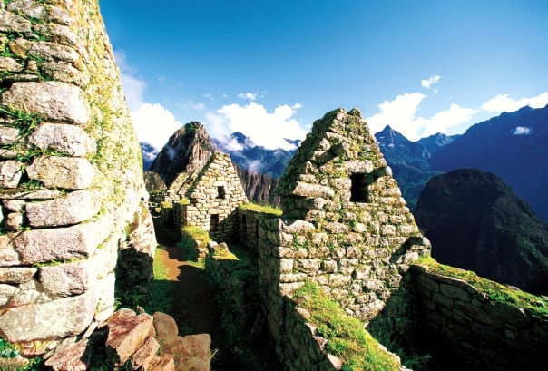 The beautiful Incan ruins at Machu Picchu are located 2,430 meters above sea level.