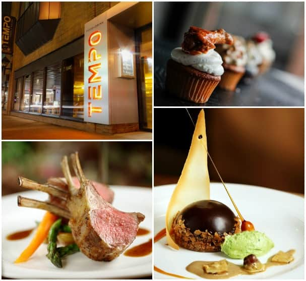 Tempo Food + Drink, top two photos, and Harbour City Bar & Grill  are two of the featured Taste of Nova Scotia restaurants.