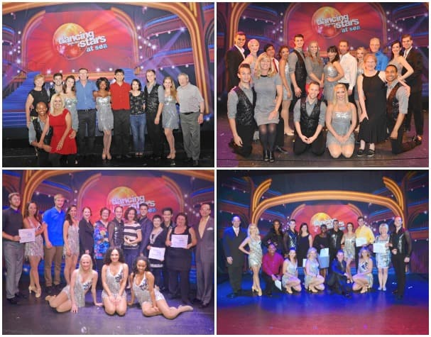 Final Dancing with the Stars: at Sea groups on (clockwise from top left) Eurodam, Westerdam, Ryndam and Volendam.