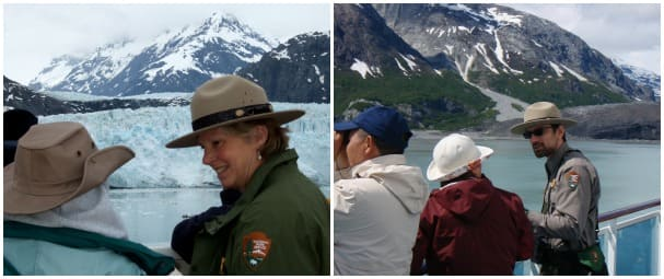 If you see a park ranger around the ship, be sure to go up and say hello!