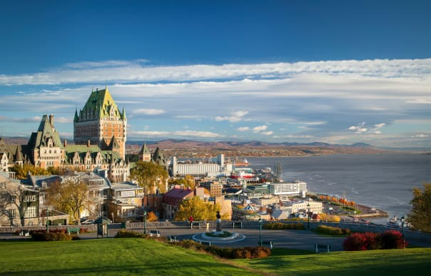 Quebec City, Quebec, with its famed Fairmont Le Chateau Frontenac hotel, is a popular call on the Canada & New England cruises.