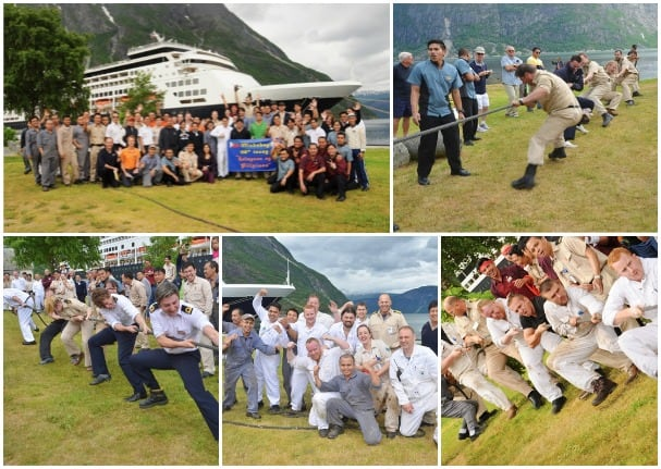 Ryndam's engine team was victorious in the Philippine Independence Day tug-o-war competition.
