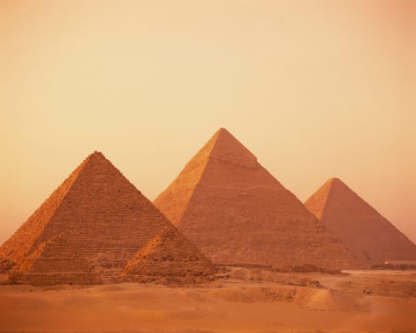 Visit the Giza Pyramids when you call at Port Said, Egypt.