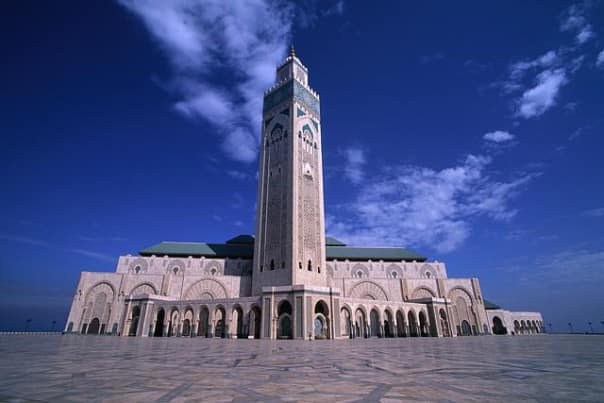 Hassan II Mosque in Casablanca is the largest mosque in Africa.