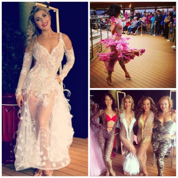 The fashion show is a highlight of the cruise. Photos by @emmaslaterdance, @stayadventurous and @anyatv.